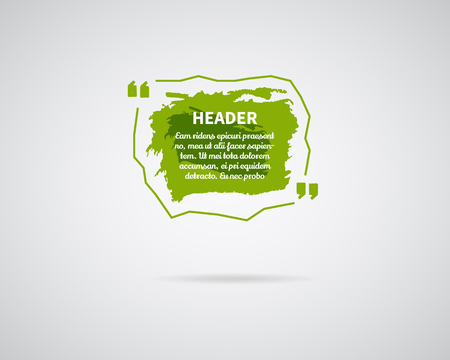 Aquarelle, éclaboussures d'encre Citer un modèle vierge. Quote bubble. Modèle vide. Modèle de carte de visite du Cercle, feuille de papier, information, texte. Imprimez le formulaire multicolore de la citation verte. Ensemble de vecteur de modèle Banque d'images - 76469664