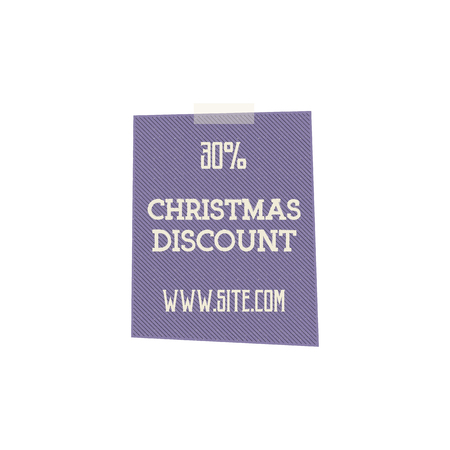 Christmas, and new year sale label, tag with a winter holiday symbols. Discount badge. retro design. Stock Photo