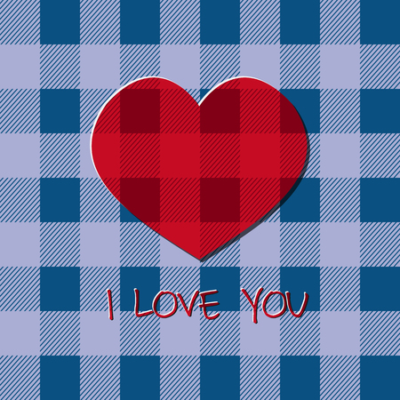Bright 2015 Valentine s day card. Hipster design. Unusual lovely style. With heart and text i love you. Can be used as poster, banner. Vector