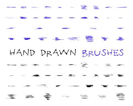 손으로 그려, 낙서, 스케치 그런 지 브러쉬 세트. 추상 손으로 그린 잉크, 드로잉 및 다른 프로젝트에 대 한 펜 선을 느꼈다. 삽화 스톡 콘텐츠