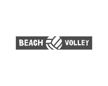 gears: Volleyball label, badge, logo and icon. Sports insignia. Best for volley club, league competition, sport shops, sites or magazines. Use it as print on tshirt. illustration