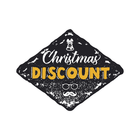 Super Christmas sale lettering and typography elements. Holiday Online shopping type quote. Stock vector illustration isolated on white background Stock Photo