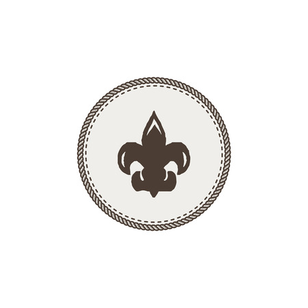 forme: Scout symbol icon on white background.