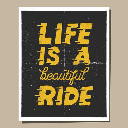 Het leven is een mooie rit. Stock Illustratie