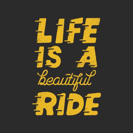 La vita è una bella citazione di motivazione di giro Archivio Fotografico - 88372036