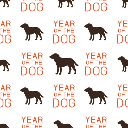 Year of the dog pattern.