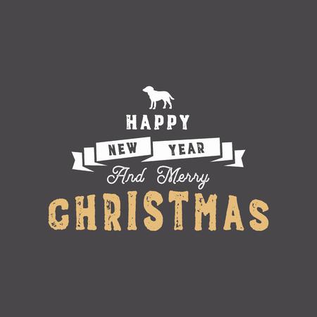 Holiday christmas greeting card design template. Illustration