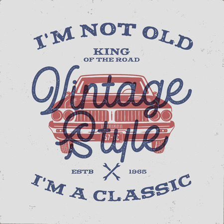 70 Birthday Anniversary Gift T-Shirt. I m not Old I m a Classic, King of the Road words with classic car. Born in 1948.