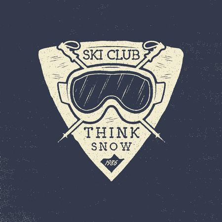 Ski club patch design.