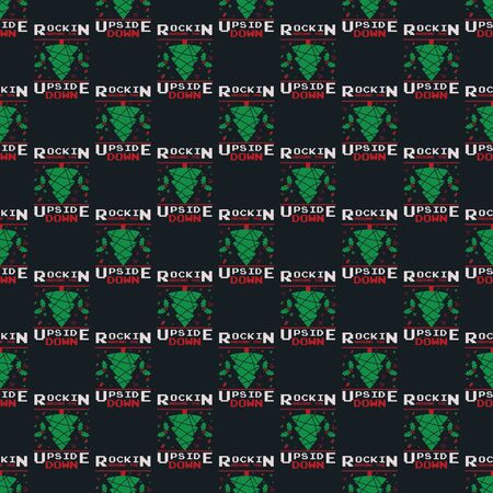 Funny Christmas seamless pattern, graphic print for ugly sweater xmas party, decoration with tree, ornaments and gift boxes.