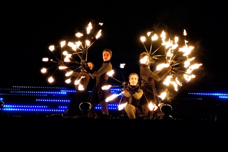 lux: Fire Circus Walkea at the Lux Helsinki 2015 light arts festival