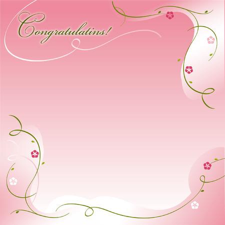 Cangratulations, bakcground, pink, greeting, holiday