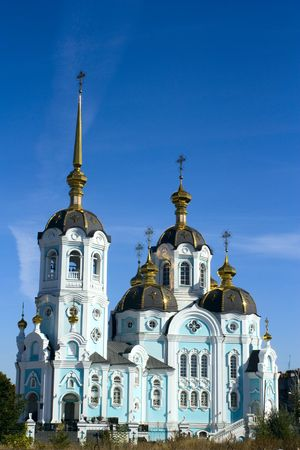 an orthodox church on sunny day on bllue sky background Stock Photo - 5709290