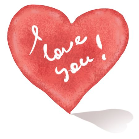 shape of heart with sign I love you Stock Photo - 7757704