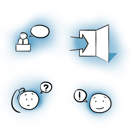 business  log in question answer icon set Stock Photo - 8715006