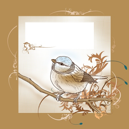 Happy easter bird greeting card Stock Photo - 8814402