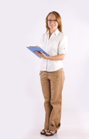 confident smiling businesswoman consulting on business Stock Photo - 9820204