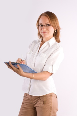 confident smiling businesswoman consulting on business Stock Photo - 9820211