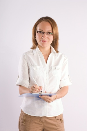 confident smiling businesswoman consulting on business Stock Photo - 9820213