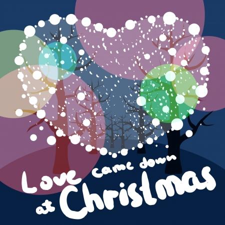 L'amour est descendu à Noël dans la belle nuit était né Jésus