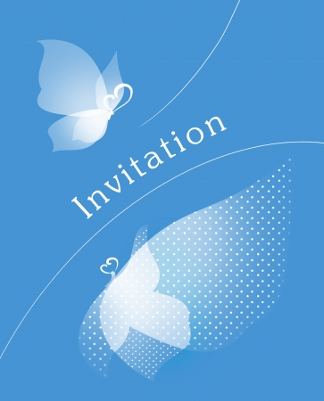 Event invitaion card. Party or wedding