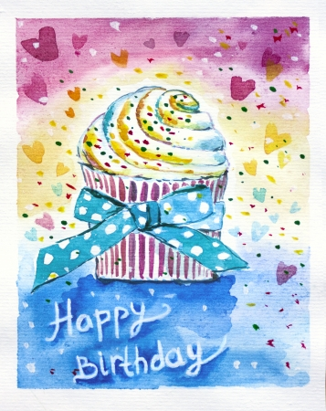 Birthday is a joyful holiday. Party, presents, cake  and decoration all you need to feel happy