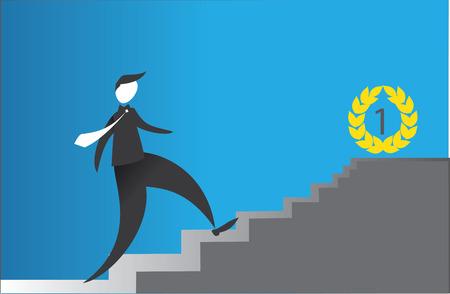 effort: businessman making effort and getting success