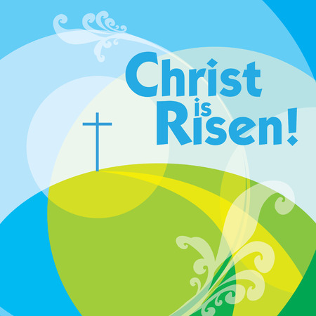 Christ is risen Easter greeting card photo