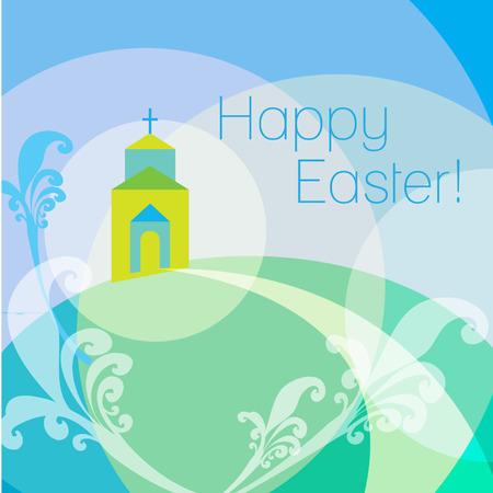 Le Christ est ressuscité Pâques carte de voeux Illustration