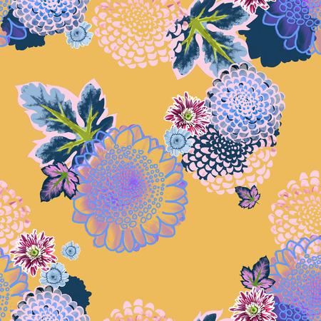 Floral pattern for textile design