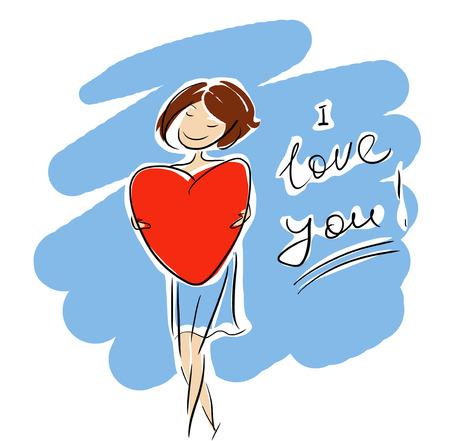 I love you girl sign Stock Photo