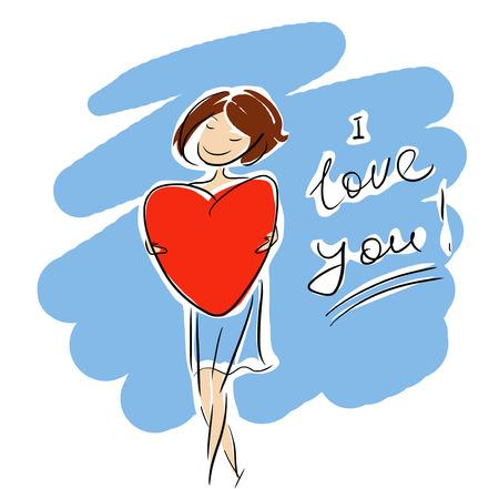 I love you girl sign Banque d'images