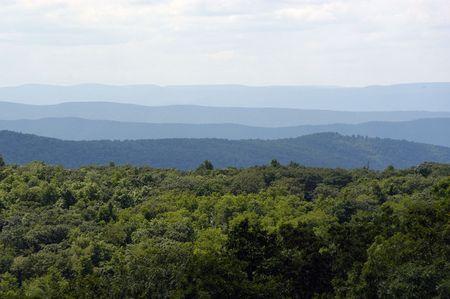 Die Blue Ridge Mountains in Virginia.  Standard-Bild