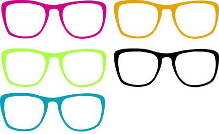 Few color of glasses Illustration