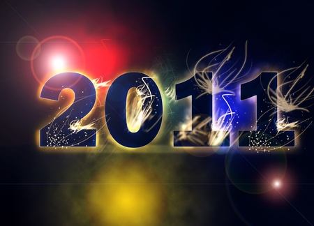 happy new year 2011 abstract background photo
