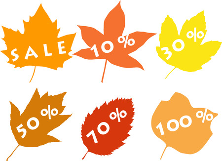 Silhouettes of leaves, sale Vector