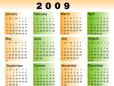almanac: Calendar 2009v