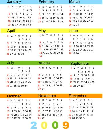 almanac: Calendar 2009 Illustration