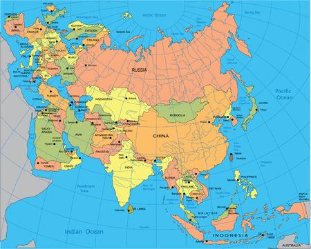 mapa politico: Mapa pol�tico de Eurasia
