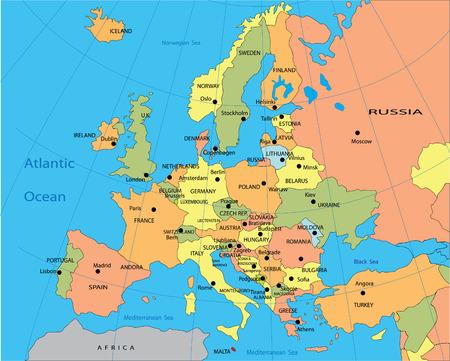 political map: Mapa pol�tico de Europa