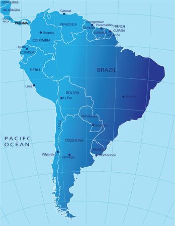 political map: Mapa pol�tico de Am�rica del Sur