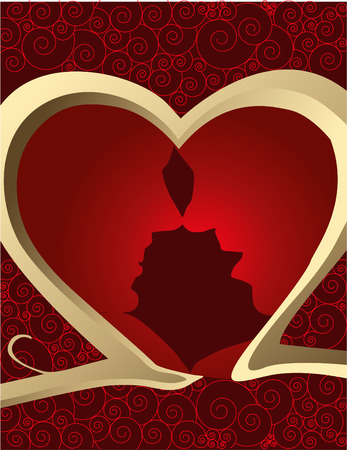 Couples in love Stock Vector - 4138035
