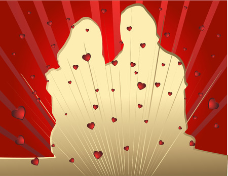 Couples in love Stock Vector - 4138037