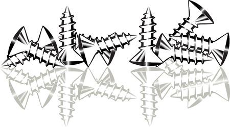 screw: silhouettes of screw