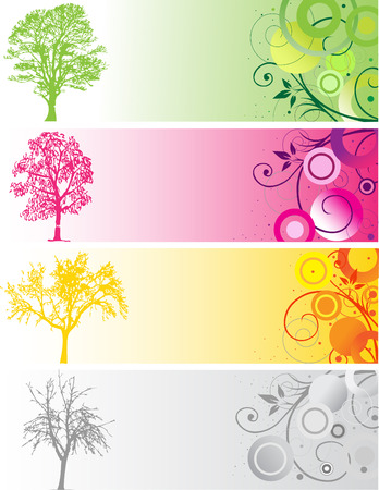 Tree  silhouettes Stock Vector - 4287968