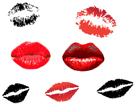 Lips print Stock Vector - 4287975