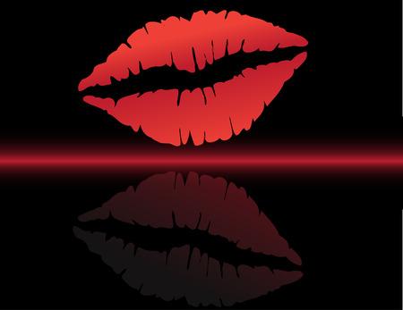 Lips print Stock Vector - 4287982