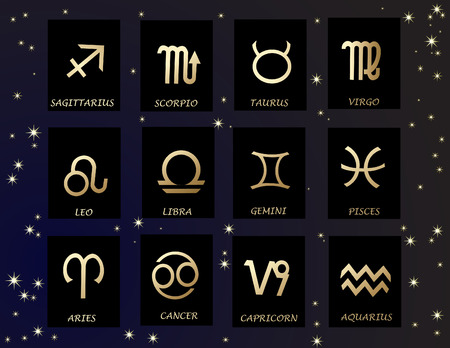 zodiac signs: Horoscope Illustration