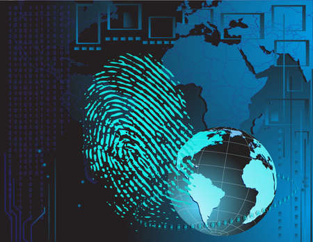 Fingerprint background Vector