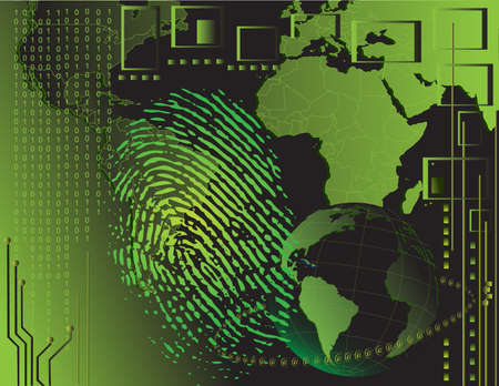 thumbprint: Fingerprint sfondo
